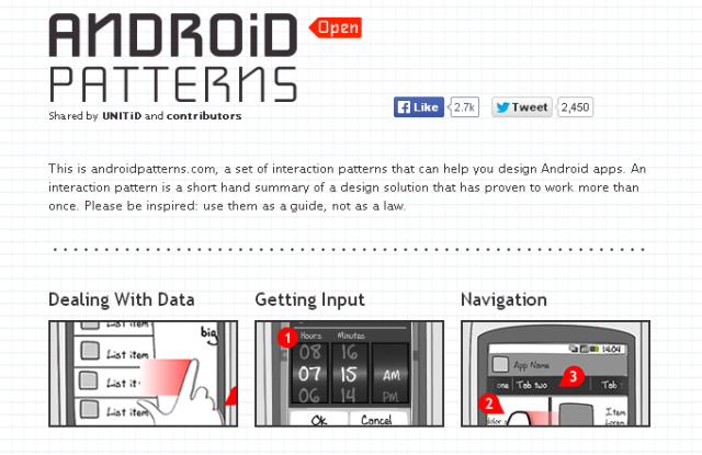 「Android Patterns」のサイト