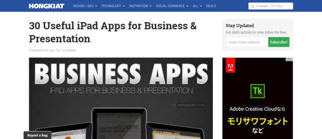 30 Useful iPad Apps for Business & Presentation