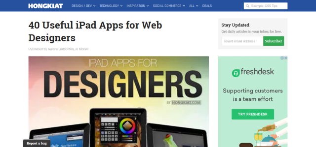 40 Useful iPad Apps for Web Designers