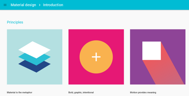 「Material design Introduction」のサイト